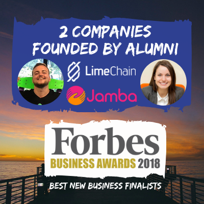 Jamba Iva Tsolova & LimeChain Niki Todorov nominated for Best new business of 2018 Forbes